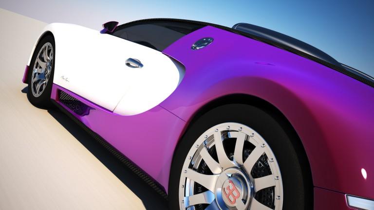 Bugatti Veyron – 3D Vray renders